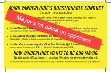 Vanderlinde hit piece