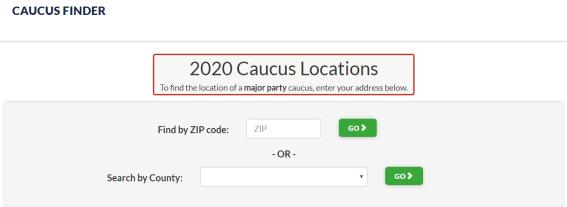 caucus finder