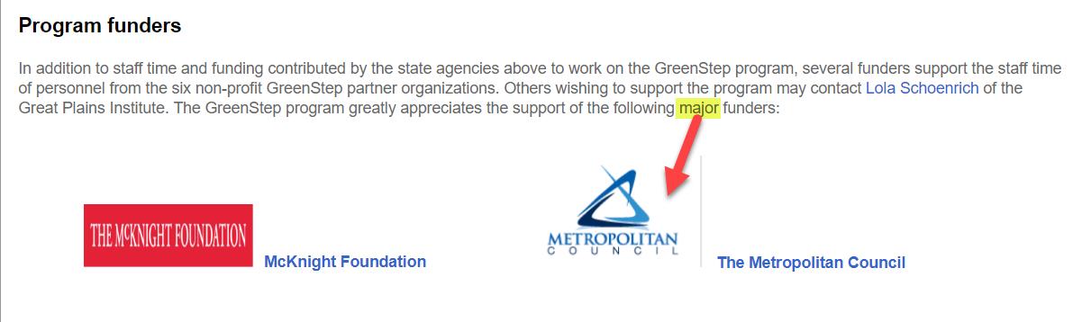 GreenStep Met Council