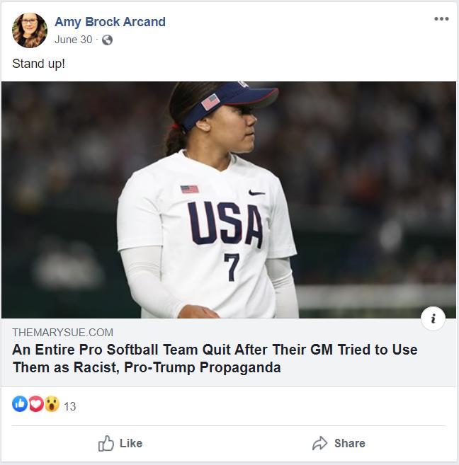 Amy Arcand Trump propaganda