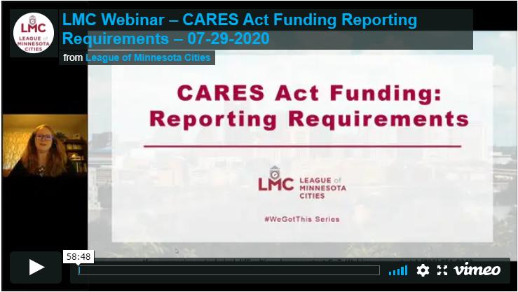 LMC CRF Reporting webinar